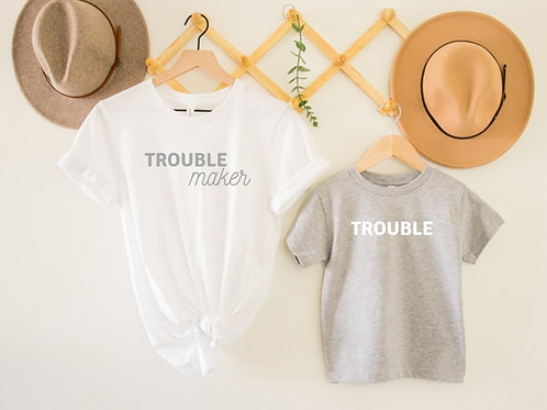 Ollie&Millie's Own - Trouble maker or Trouble tee (sold separately)