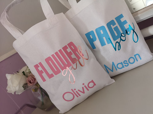 Ollie&Millie's Own - Flower Girl/Page Boy Personalised Bag