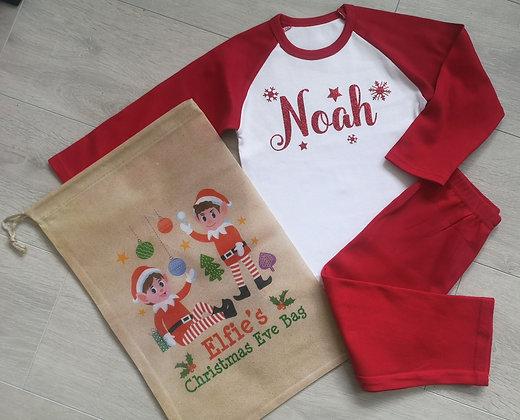 Ollie&Millie's Own - Personalised Christmas Eve PJs