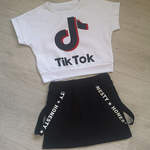 TikTok top & skirt