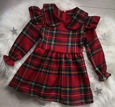 Ruffle Tartan Dress (2 designs)