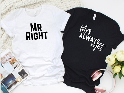 Ollie& Millie's Own - Mr Right & Mrs always right set