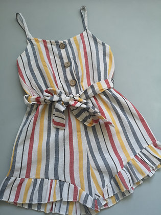 Multi Coloured Striped Playsuit
