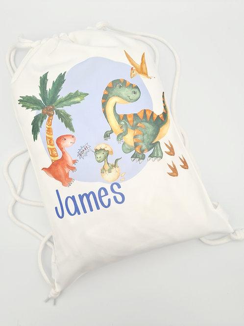 Personalised printed Drawstring Bag
