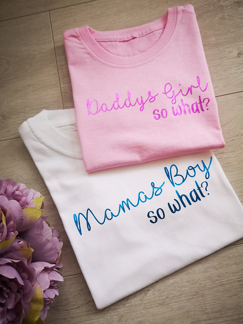 Ollie&Millie's Own - Mamas Boy and Daddys Girl....SO WHAT