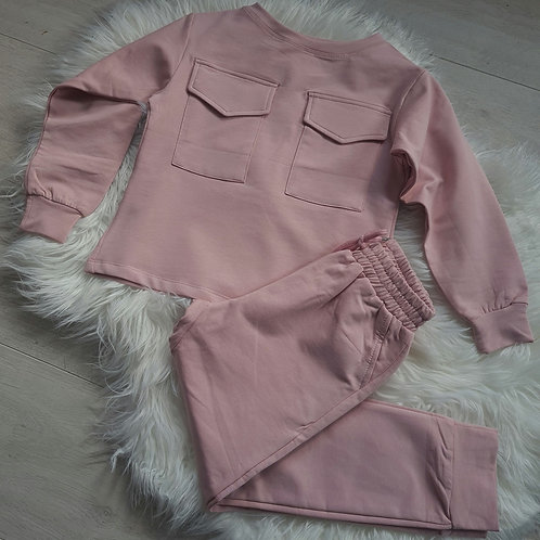 Pink Jumper and Joggers