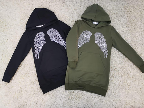Angel wing dress hoody