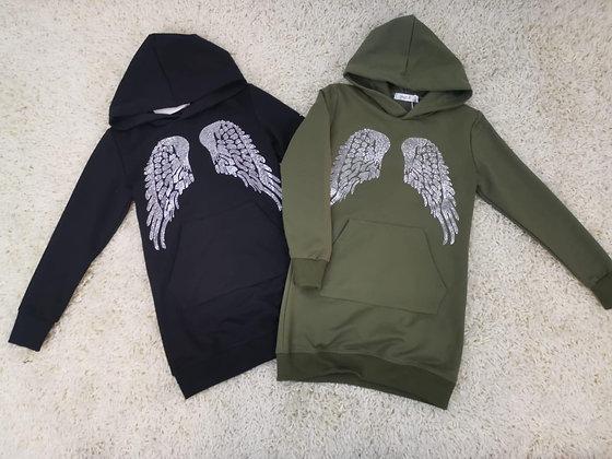 Angel wing dress hoody