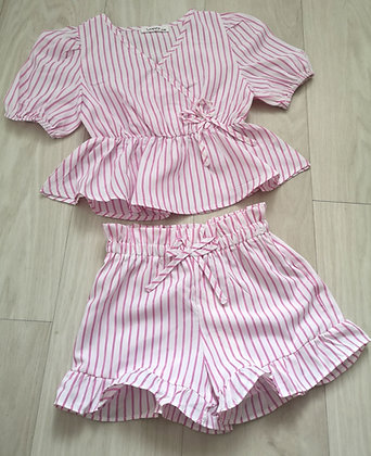 Pink Striped 2 Piece