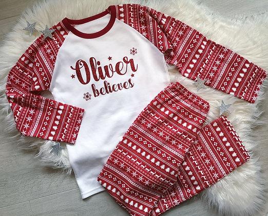 Ollie&Millie's Own - Personalised Believes Christmas PJs