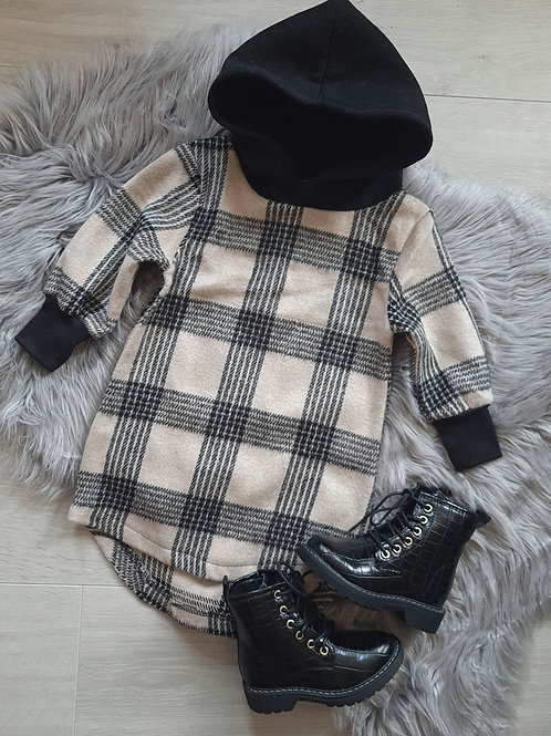 Checked Fleece Jumper Dress