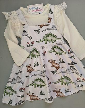 Dinosaur Pinafore Dress