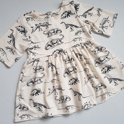 Black & White Dinosaur Dress