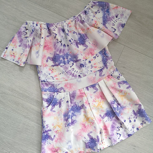 Pink & Purple tie dye playsuit