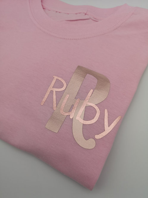 Ollie&Millie's Own - Personalised Rose Gold Tee