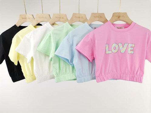 Pastel LOVE crop