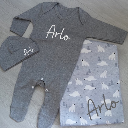 Ollie&Millie's Own - Personalised Baby Set