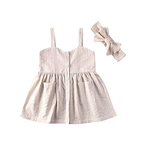 Striped Dress & Headband