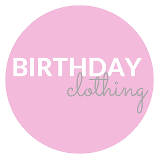 Personalised birthday clothing