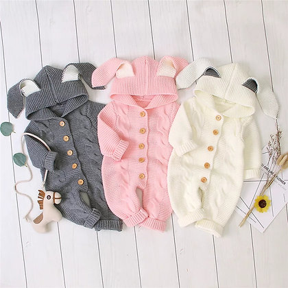 Knitted bunny ear  Suit