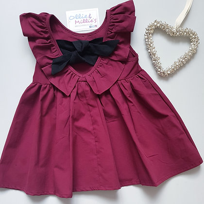 Ruffle Tie Back Dress