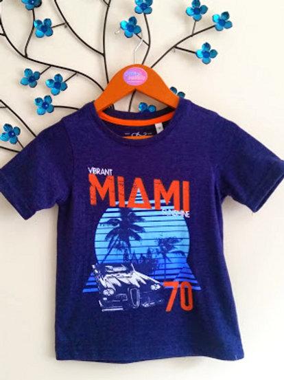 Boys Navy 'Miami' T-Shirt