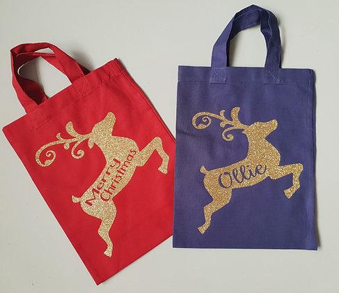 Ollie&Millie's Own - Personalised Reindeer Bag