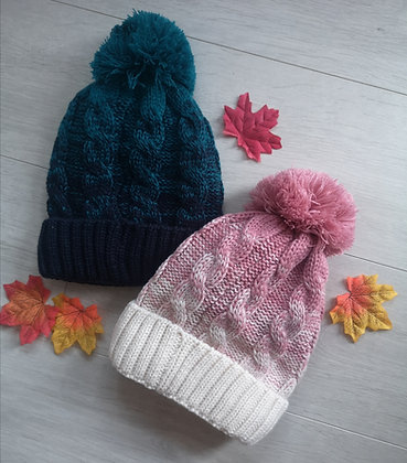 Ombre beanie hat
