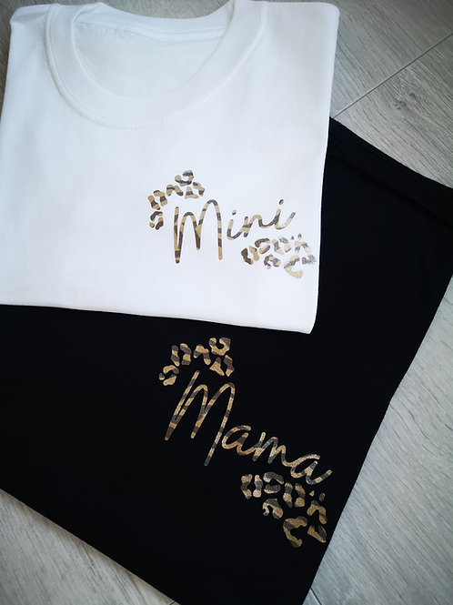 Ollie&Millie's Own - Leopard Mama/Mini Tee