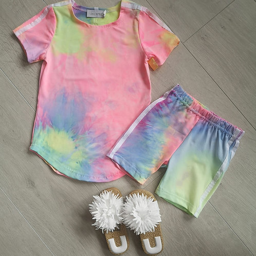 Neon Tie Dye Retro Summer Set