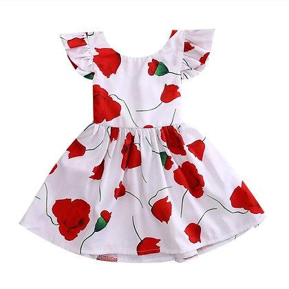 Poppy Print Summer Dress