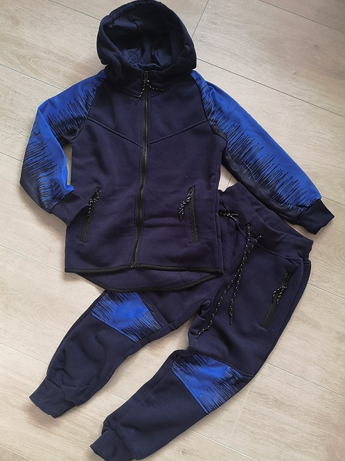 Navy Hooded Tracksuit