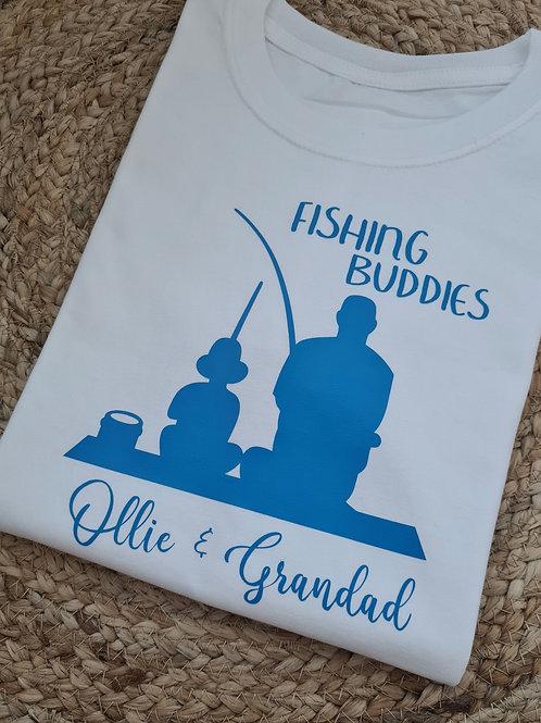 Ollie&Millie's Own - Personalised fishing buddies tee
