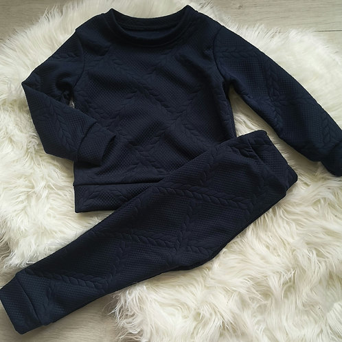 Navy quilted set