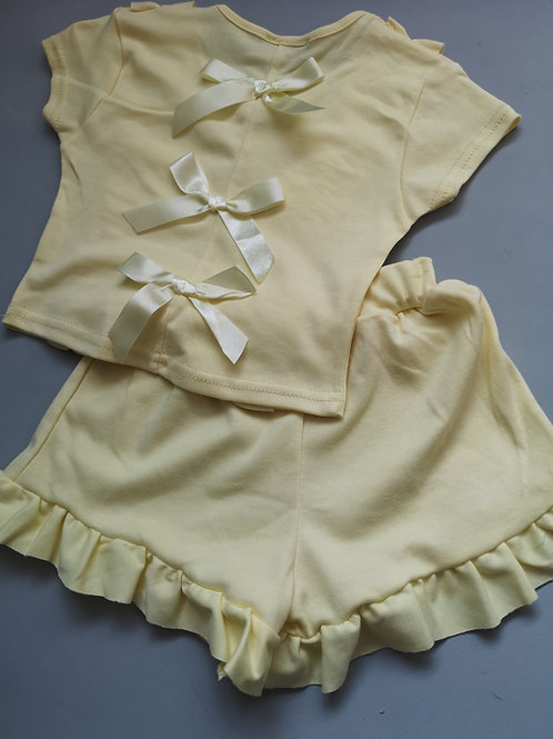 Yellow ruffle summer set