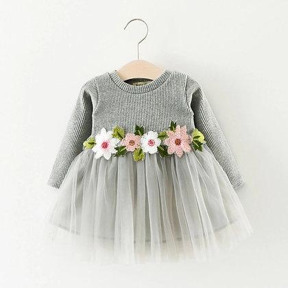 Long Sleeved Flower Dress