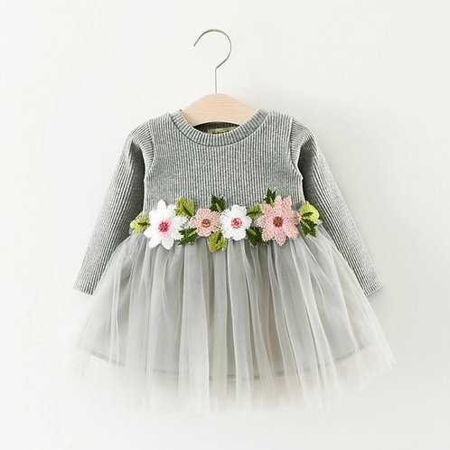 Long Sleeved Flower Dress