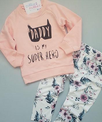 Daddy is my superhero set