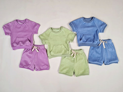 Summer Towelling Loungewear (embroidered)