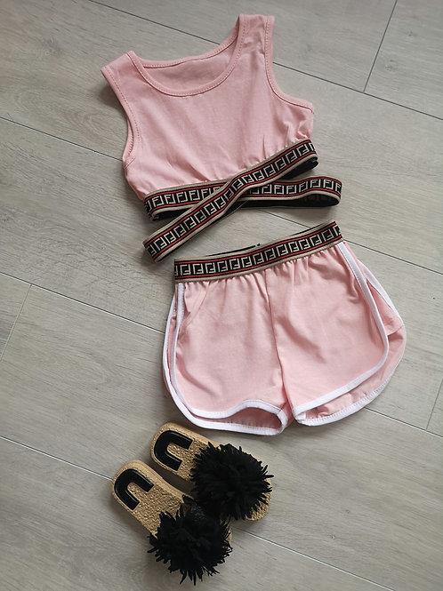 Crop and Shorts retro set