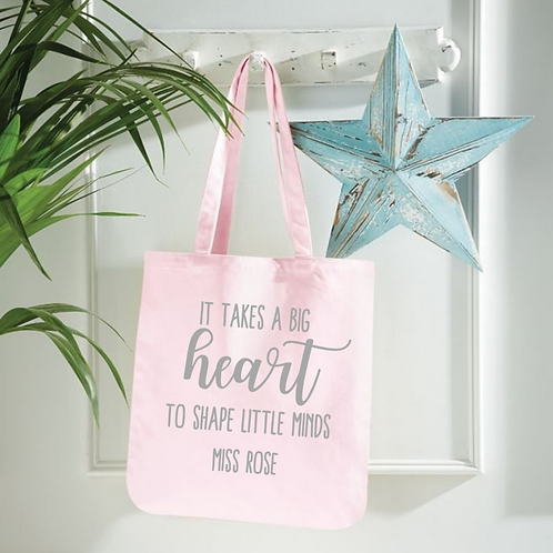 Ollie&Millie's Own - It takes a big heart to shape little minds tote