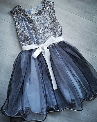 Grey Sequin Party Dress