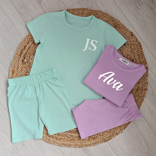 Personalised pastel summer set