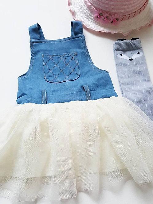 Denim & Cream Tutu Dress