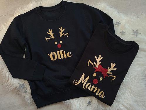 Ollie&Millie's Own - Adult Personalised Reindeer Sweater