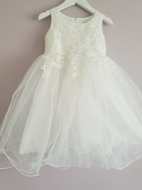 White Lace Detail Party Dress