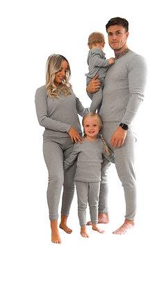 Adult grey personalised luxury ribbed lounge wear