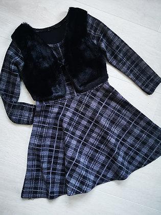 Black or Red tartan dress