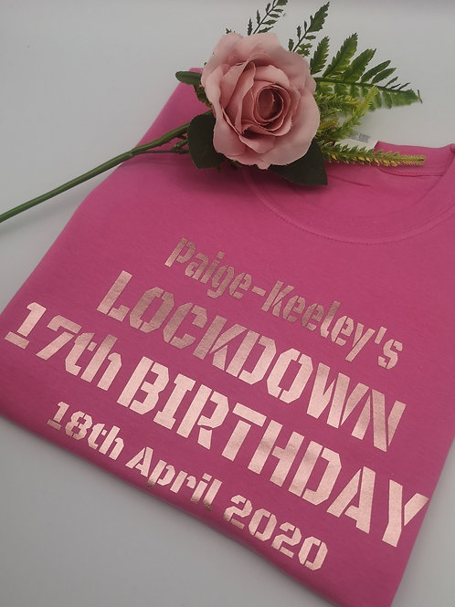 Ollie&Millies Own - Personalised Lockdown Birthday