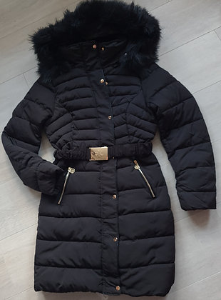 Thick Padded Faux Fur Coat